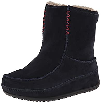 Fitflop Women's Mukluk MOC 2 Moccasin Boots, Super Navy, 3 UK