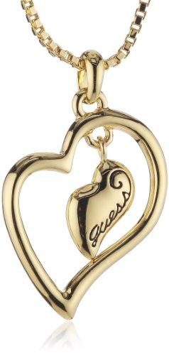 Guess Damen-Halskette Goldfarben mit Anhänger 40-45cm UBN80105 thumbnail