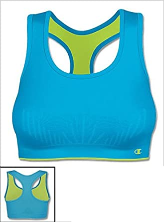 Champion Medium Impact Seamless Soft Cup Sports Bra, L, Asphalt
