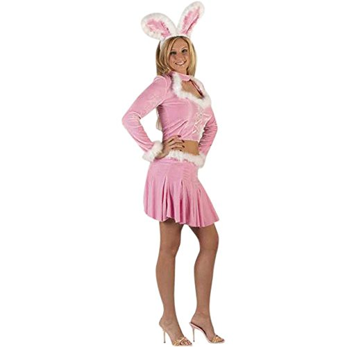Adult Sexy Pink Bunny Costume (Size:Medium 8-14)