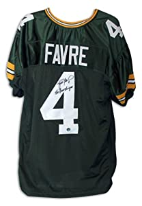 Brett Favre Green Bay Packers Green Throwback Jersey Inscribed The Gunslinger... by Sports Memorabilia