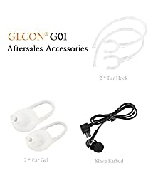 Glcon Bluetooth Headset (White)