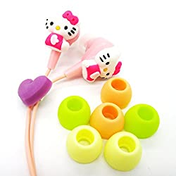 Kuhu Creations cute Hello Kitty Earphone 3.5 mm universal Jack, without mic