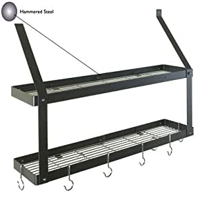 Amazon.com - Rogar 8501 Double Bookshelf - Hammered Steel ...