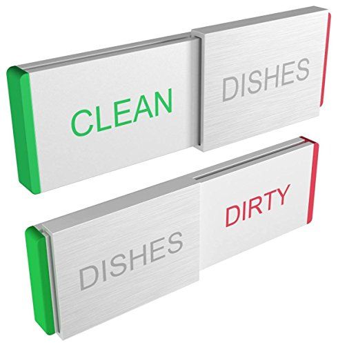 Clean Dirty Dishwasher Magnet Sign Premium Kitchen Gadgets Home and Office Organization Magnetic or Adhesive Sticker (Manual Dishwasher compare prices)