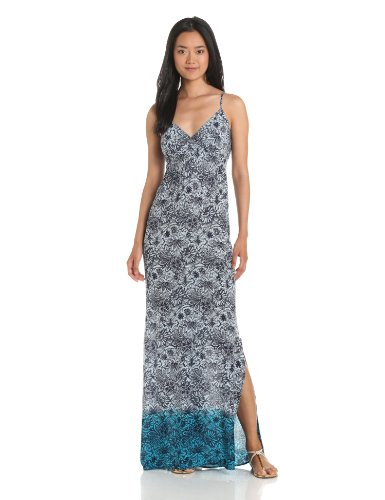 eight sixty Women's Ombre Lace Cami Maxi Dress, Sky Blue/Navy, Small