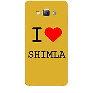 Skin4gadgets I love Shimla Colour - White Phone Skin for SAMSUNG GALAXY A7 (A700)