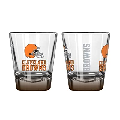 NFL Cleveland Browns Elite Shot Glass Set (2-Pack), 2-Ounce