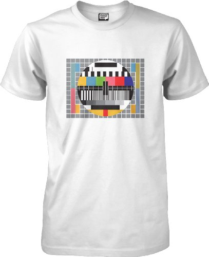 Test Card - Nerdy T-shirt. White, Blue or Black. Sizes S to XXL