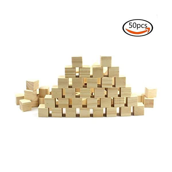 Goodlucky 50 Pcs 1 Blank Unfinished Natural Wood Wooden Art