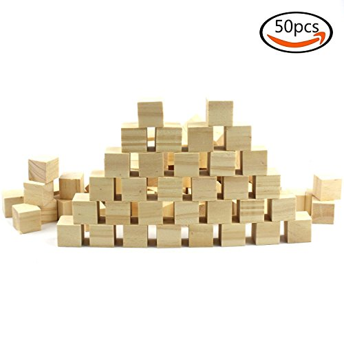 Wooden Cubes Craft Supplies