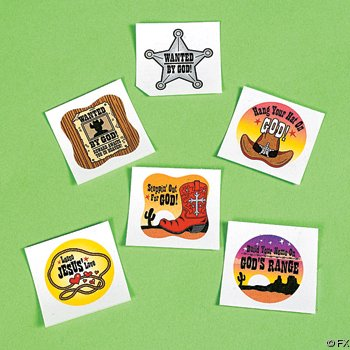 Vacation Bible School Western Tattoos (72 pc)