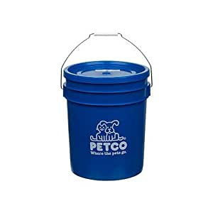 Petco bucket color blue pet supplies for Does petco sell fish