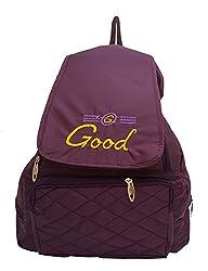 Vintage Stylish Ladies Expandable Backpacks Handbags Purple(bag 154)