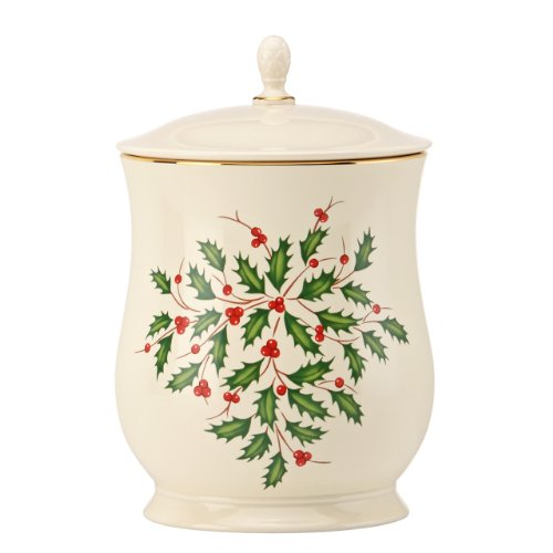 Lenox Holiday Cookie Jar with Lid