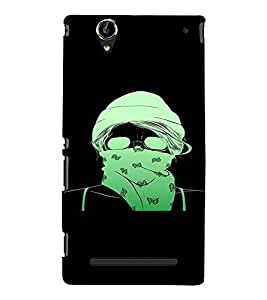 PrintVisa Cool Girl 3D Hard Polycarbonate Designer Back Case Cover for Sony Xperia T2 Ultra