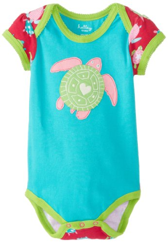 Hatley - Baby Baby-Boys Newborn Envelope Neck One Piece Sea Turtles, Aqua, 3-6 Months