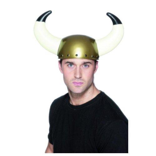 Smiffy's Men's Viking Helmet with Large Horns, Multi, One Size - 1