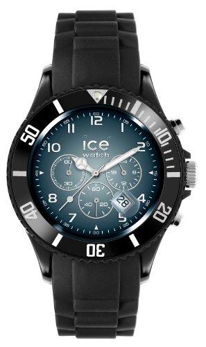 Ice-Watch Ice-Blue Black Silicon Shine Chronograph watch Big IB.CH.BSH.B.S