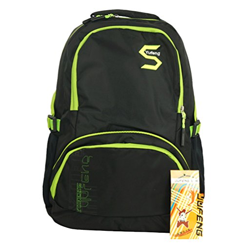 Zerd Nylon Waterproof Sports Travel Camping Students Laptop Backpack Light Green front-486856