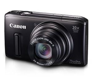 """Canon SX240 HS - Cámara compacta de 12.1 Mp (pantalla de 3"""", zoom óptico 20x, estabilizador de imagen óptico), negro"""