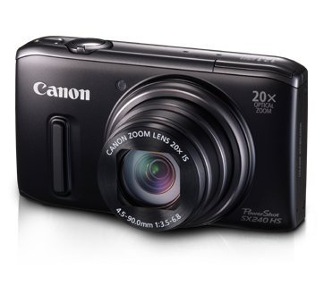 Canon PowerShot SX 240 HS Digitalkamera (12,1 Megapixel, 20-fach opt. Zoom, 7,6 cm (3 Zoll) Display, bildstabilisiert) schwarz