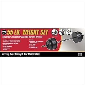 US Weight F0055- 55 lb Duracast Weight Set