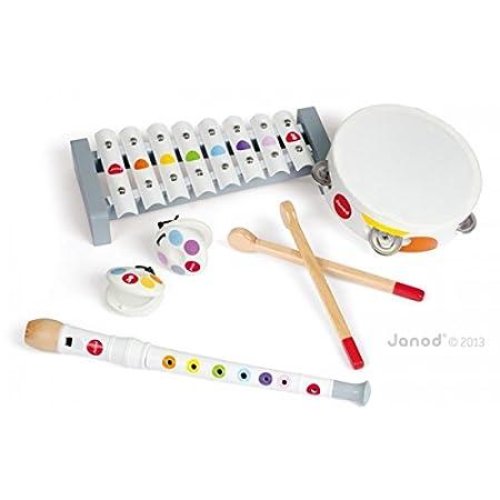 Janod - 07600 - Jouet d'éveil - Instrument de Musique - Set Musical Confetti - 7 pièces