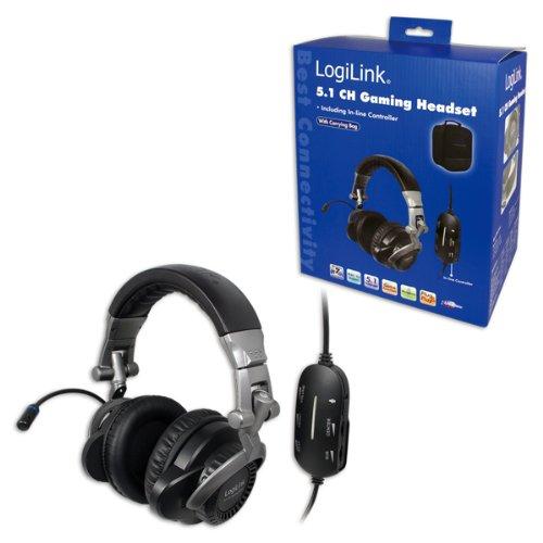 LogiLink HS0017 5.1 Gaming Headset (108 dB/mW, USB 2.0) schwarz