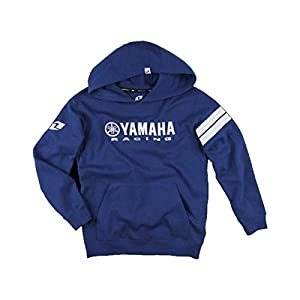 One Industries Boys Yamaha Stripes Hoody Pullover Sweatshirt, Blue, Medium