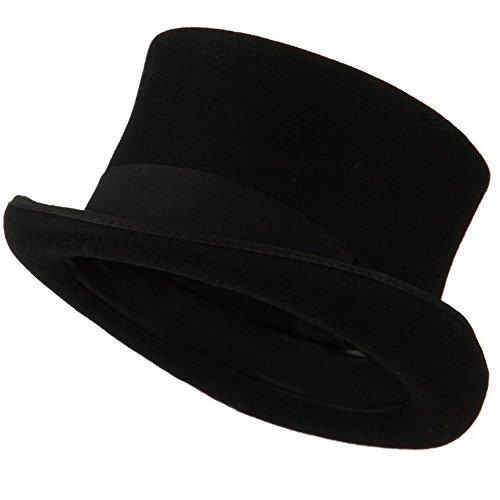100-Black-Wool-Felt-Top-Hat-With-Ribbon-SmallMedium
