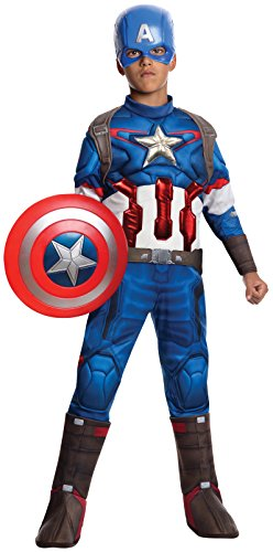 Avengers 2 - Age of Ultron: Deluxe Captain America Costume For Kids- Medium
