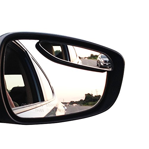 Blind Spot Mirrors – Engineered for optimized Shape and Size – Car Mirror for blind side – Door mirrors by Utopicar for large image and traffic safety. Awesome rear view! [Adjustable] (2 pack)