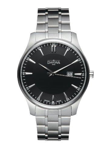 Davosa - 16346355 - Montre Homme - Quartz Analogique - Bracelet Acier Inoxydable Argent