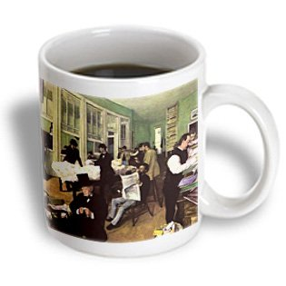 Bln Edgar Degas Fine Art Collection - The Cotton Market In New Orleans By Edgar Degas - 11Oz Mug (Mug_126964_1)