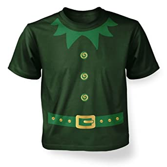 Big Mouth Clothing Little Boys Elf Costume (Green Detail) Kids T-shirt - Fancy