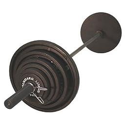 USA Sports 300 lb. Olympic Weight Set (Black Bar)