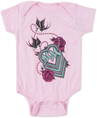Metal Mulisha - Baby Together Onesie, Pink (6Mo) front-1080149