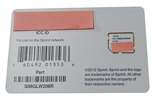 Sprint UICC ICC Micro SIM Card SIMGLW206R (Galaxy S4 Virgin Mobile compare prices)