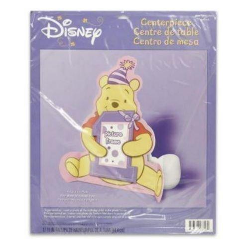 Pooh's 1st Birthday Girl Photo 11in Centerpiece