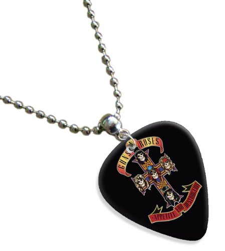 Guns N Roses Cross Premium Chitarra Pick Plettri Collana Necklace