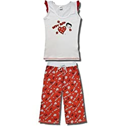 "Betty Boop ""Hearts and Flowers"" Sleeveless, Capri Pajamas for Juniors"