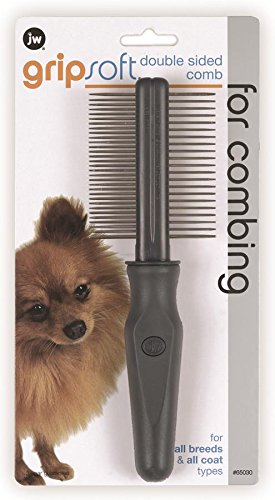 Artikelbild: JW Gripsoft Double Sided Grooming Comb for Dogs