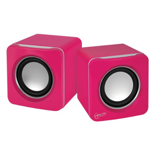 Arctic S111 Usb-Powered Portable Stereo Speakers For Tablet/Ereader/Mp3/Computers, Balanced Treble/Superior Bass - Pink