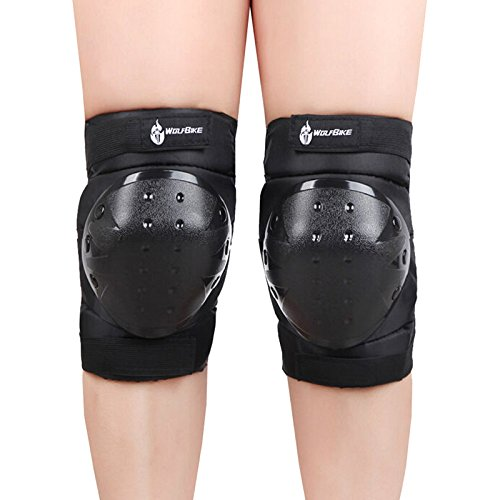 WOLFBIKE Unisex Outdoor Sports Skate Skateboard Knee Protective Gear Pads Black