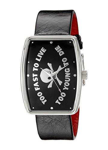 Vivienne Westwood VV009BK - Reloj para hombre, correa de cuero color negro