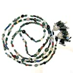 Aventurine Necklace 04 Beaded Lariat Green Ruby Lapis Fluorite Crystal Healing 52