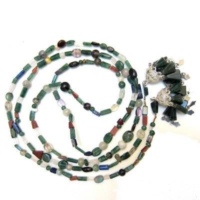 Aventurine Necklace 04 Beaded Lariat Green Ruby Lapis Fluorite Crystal Healing 52