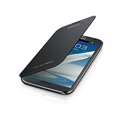 Samsung Flip Cover For Galaxy Note 2 - Gray