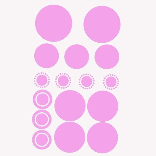 Polka Dot Wall Decals Decoration For The Kids Room, Nursery Decor Wallpaper Border, Removable & Repositionable Wall Decals For Girls And Boys // Liven Up The Home Decor For Girls Rooms With Cheerfulness // Easily Change Your Room Design And Colors With Th
